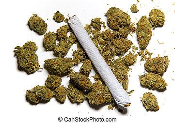 cicatrizarse, de, medicinal, marijuana, y, un, coyuntura