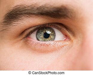 cicatrizarse, de, ojos