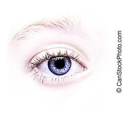 cicatrizarse, de, un, ojo azul