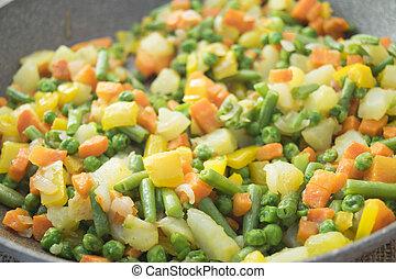 cicatrizarse, de, vegetales, en, el, oriental