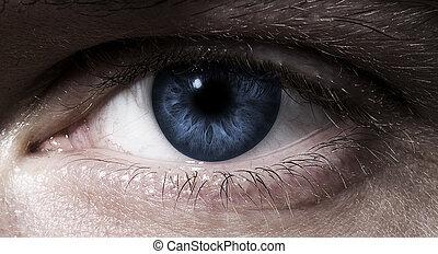 cicatrizarse, en, ojo humano