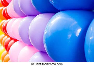 cicatrizarse, globos coloridos