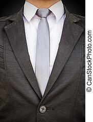 cicatrizarse, hombre de negocios traje