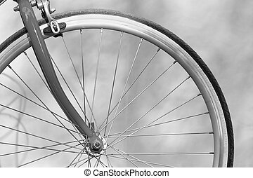 cicatrizarse, mano, asimiento, asidero bicicleta