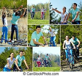 ciclismo, amigos