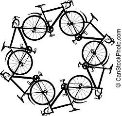 ciclismo, ao redor