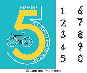 ciclismo, carrera, cartel, diseño