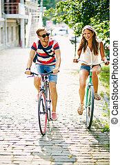 ciclismo, en el parque