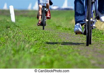 ciclismo, in, il, paesi bassi