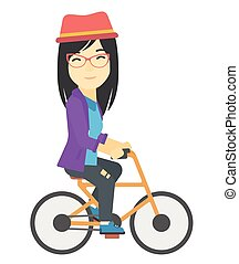 ciclismo mulher, work.