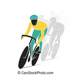 ciclismo, pista, carrera, diseño