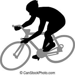 ciclismo, silueta
