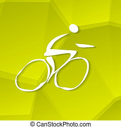 ciclista, ícone