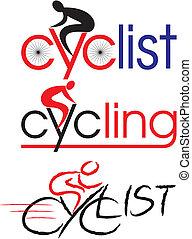 ciclista, bicicleta, ciclismo