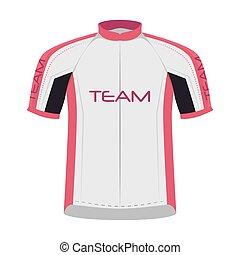 ciclista, camisa, sportwear