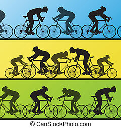 ciclista, ganador, líder, plano de fondo