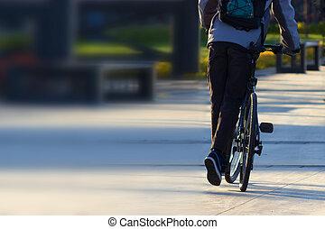 ciclista, parco