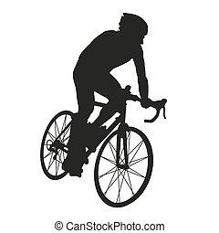 ciclista, silueta