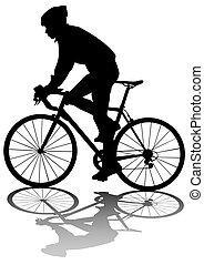 ciclistas, hombre