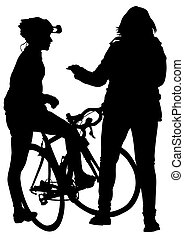 ciclistas, mujeres