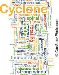 ciclone, conceito, fundo