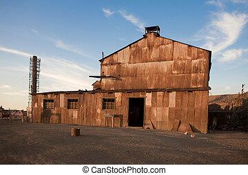 cidade, abandonado, -, laura, santa, humberstone