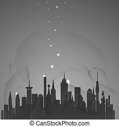 cidade, abstratos, estrelas