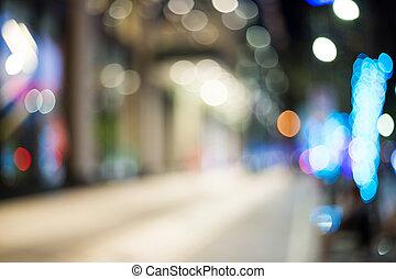cidade, abstratos, rua, bokeh, luzes