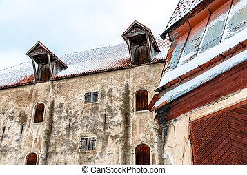 cidade, antigas, estónia, arquitetura, castelo, tallinn