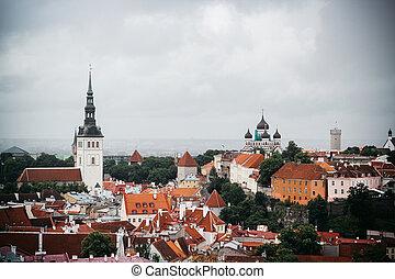 cidade, antigas, estónia