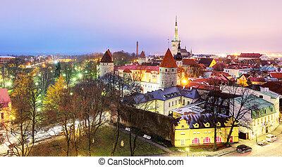 cidade, antigas, estonia., tallinn