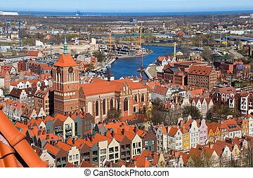 cidade, antigas, gdansk