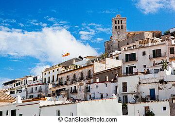 cidade, antigas, ibiza, espanha