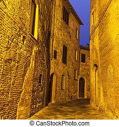 cidade, -, antigas, montepulciano