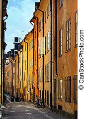 cidade, antigas, stockholms