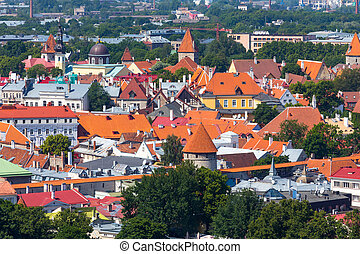 cidade, antigas, tallinn