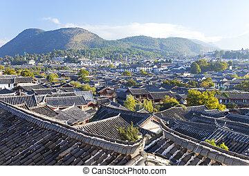 cidade, antigas, UNESCO, yunnan, lijiang, herança, mundo,...