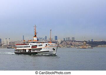 cidade, balsa, Istambul, cruzeiros