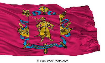 cidade, bandeira, isolado, oblast, ucrânia, fundo,...