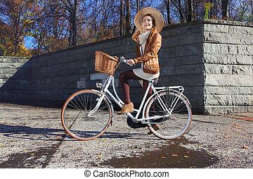 cidade, bicicleta