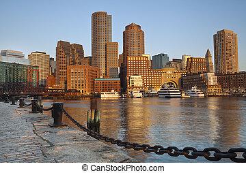 cidade, boston.