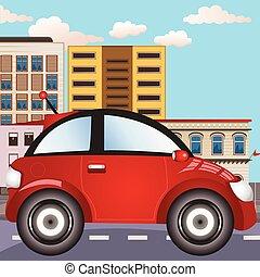 cidade, car, ícone
