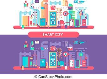 cidade, conceito, esperto