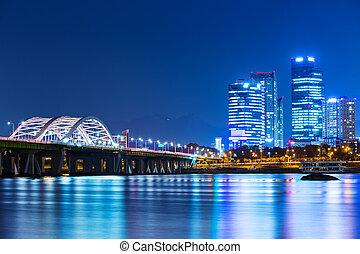 cidade, coréia, seul, sul