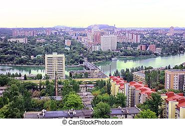 cidade, de, donetsk, ucrânia