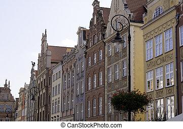 cidade, de, gdansk, poland.