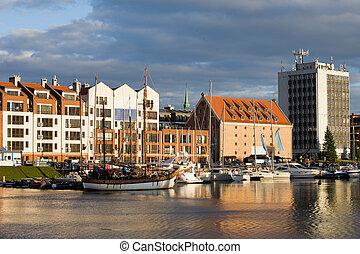 cidade, de, gdansk, porto