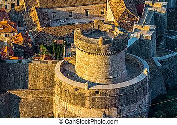 cidade,  Dubrovnik, antigas