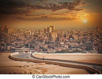 cidade, egypt., maior, cairo, áfrica.