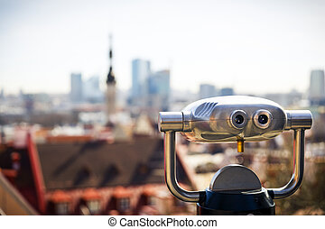 cidade, estónia, tallinn, máquina, ver, antigas
